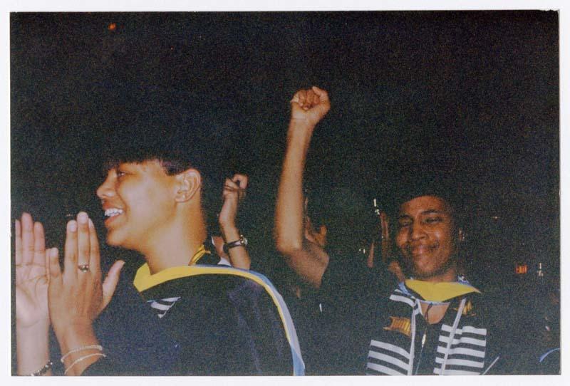 Commencement 1996 Graduates Cheering