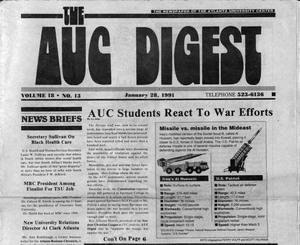 """AUC Students React To War Efforts"", AUC Digest Vol. 18, No. 13"