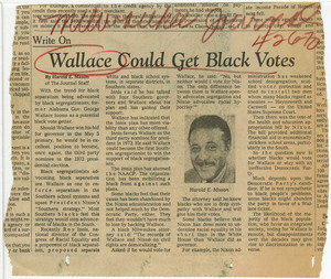 Wallace Could Get Black Votes