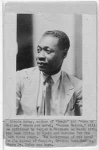 "Claude McKay, author of ""Banjoy"" and ""Home to Harlem,"" whose new novel, ""Banana Bottom,"" will be published by Harper & Brothers on March 29th, has been living in Spain and Morocco for the last three years. The background of his novel is the island of Jamaica, British West Indies, where Mr. McKay was born"