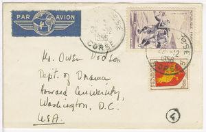 Mr. Owen Dodson Dep't. of Drama Howard University,Washington, D.C.U.S.A.