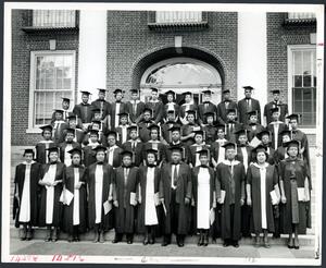 Group portrait of Atlanta University graduates in 1955.