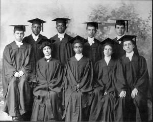 Group portrait of Atlanta University graduates in 1903.
