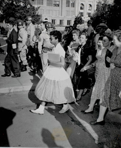 Elizabeth Eckford Entering Central High School, Little Rock, Arkansas