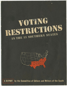 Voting Restrictions in the 13 Southern States