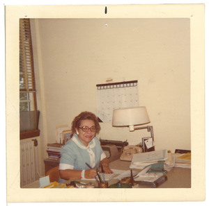 Virginia Lacy Jones in Office, circa 1965